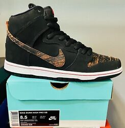 Nike Dunk Pro Sb High Distressed Leather 305050026 Us Men's Size 8.5