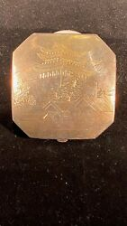 Vintage Japanese 950 Sterling Silver Compact Case
