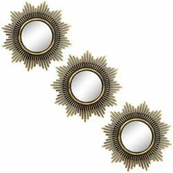 Small Round Mirrors for Wall Decor Set of 3 Great Home Accessories for M002