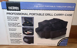 Thermos Portable Grill Carry Case Storage Pockets Rugged Fits Most Camp Grills