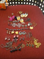 Vtg Jewelry Lot Sterling Silvergold Filled Costume 4 Scrap 110g With Stones A1