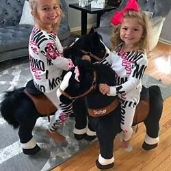 Official Classic U Series Ride On Horse Toy Plush Walking Animal Horse Black