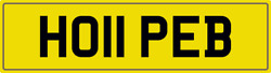 Hope B Theme Number Plate Ho11 Peb Registration With All Fees Included Hopes Reg