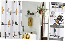 Rowley Bird Fabric Shower Curtain Colorful Farmhouse Shower Curtains 72andrsquoandlsquox75andrsquoandlsquo