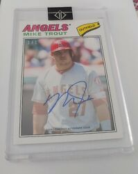 2018 Topps Mike Trout 1983 Topps Auto 35th Anniversary 1/1 Mt-1977 Autograph
