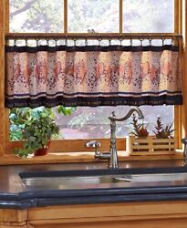 Faith Family Friend Window Valance With Hooks Country Stars Hearts Berries