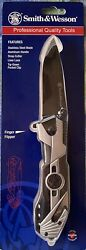 Smith amp; Wesson Large Border Guard II Folding Blade Tactical Pocket Rescue Knife