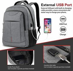 Vimdiff Tech Laptop Backpack for Men with USB Charging Port Fits 15.6in Laptop $19.99