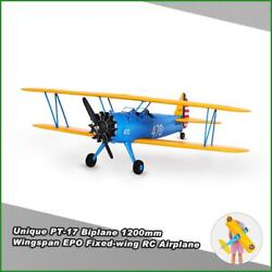 Hookll Pt-17 Biplane 1200mm Wingspan Epo Rc Airplane Kit/pnp Scaled Fixed-wing