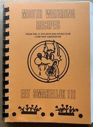 1980s U.s. Air Force 32nd Tfs Squadron Cookbook Soesterberg Air Base Netherlands