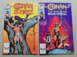 Marvel Comics 1982 Conan The Barbarian Movie Special 1 And 2 Complete Vf