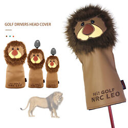 Pu Leather Tier Clover Golf Club Head Cover For Driver Fairway Wood Hybrid