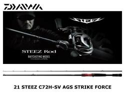 Daiwa 21 Steez C72h-sv Ags Strike Force Casting Rod Ship From Japan