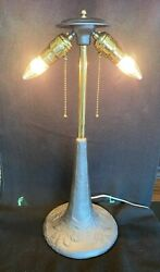 Antique Vintage Iron, Brass Electric Table Lamp -bandh,miller,rochester, Aladdin