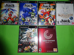 Empty Cases Dot Hack / .hack// Outbreak Infection Part 1-4 Playstation 2 Ps2