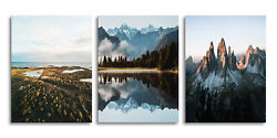 Mountain Canvas Wall Art Lake Wall Paintings Landscape Canvas Prints for Bedroom