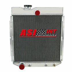 4 Rows Aluminum Radiator For 1966-1977 Ford Bronco 2.8l 3.9l 6 Cylinder At/mt