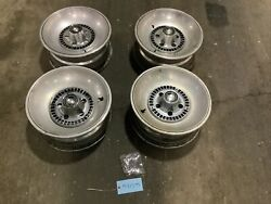1975-1976 Ford Thunderbird 15 5 Bolt Pattern Wheel W/ Center Caps And Spacers Set