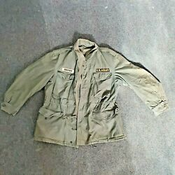 Vintage Us Army M-51 Field Jacket Coat M-1951 Og 107 Military Sz Long Small.