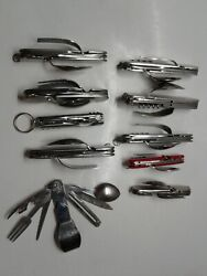 HOBO KNIFE CAMPING TOOLS Lot of 10 Spoon Fork Knife MULTI TOOL LOT $49.99