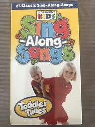 Cedarmont Kids Sing Along Songs Toddler Tunes Vhs New Sealed Family Music Wheels