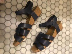 Eric Michael Millie Womens Sandal New With Box Blue Size 41
