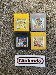 Pokemon Yellow Version Special Pikachu Edition Donkey Kong Mario Gameboy Color +