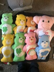 Lot Of 8 Vintage 1980andrsquos Care Bears Craft Cut Out Stuffed Plush Pillows Toys