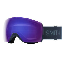 Smith Skyline Xl - Asian Fit   Snow Goggles   French Navy / Violet Mirror