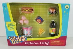 Vintage Kitchen Littles 1995 Barbeque Party - New In Box - Barbie Size