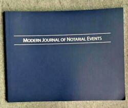 Brand New Modern Journal Of Notarial Events Soft Cover Notary Public Journal