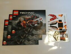 New Lego Technic 4x4 Crawler 9398 Instruction Manuals 1 2 3 And Stickers