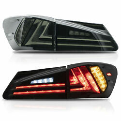 Vland Led Smoked Tail Lights For 2006-2013 Lexus Is250 Is350 Sedan And 08-14 Isf
