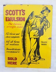 588ms Rare Scottand039s Emulsion The Famous Strength Maker Porcelaine Andeacutemail Signe