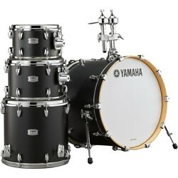 Yamaha Tour Custom Maple 4-piece Shell Pack With 20 In. Bass Drum Licorice Satin