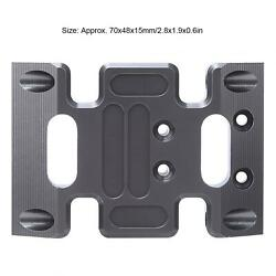 Rc Car Center Skid Plate Rc Chassis Plate Rc Accessory Rc Chassis Aluminum Alloy