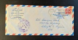 1962 Foreign Service Of Usa Navy Airmail Cover To Arlington Va Old Dominion Bank
