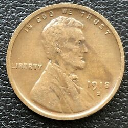 1918 S Wheat Penny Lincoln Cent 1c High Grade 31493