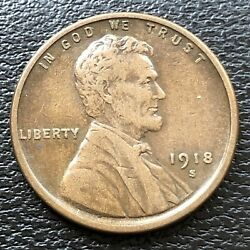 1918 S Wheat Penny Lincoln Cent 1c High Grade 31500