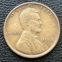 1918 S Wheat Penny Lincoln Cent 1c High Grade 31512
