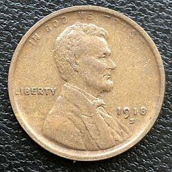 1918 S Wheat Penny Lincoln Cent 1c High Grade 31513