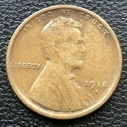 1918 S Wheat Penny Lincoln Cent 1c High Grade 31514