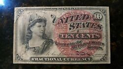 Fractional Currency 10 Cents Fr-1261 Fourth Issue 4th Issue Uncirculated Note