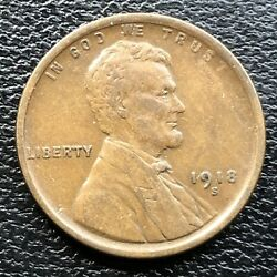 1918 S Wheat Penny Lincoln Cent 1c High Grade 31522