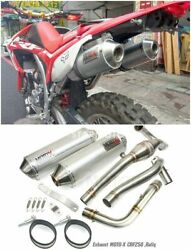 Twin Exhaust Honda Crf 250 M L Rally 2013 - 2020 Full System Stainless Mega Bomb