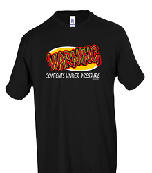 Warning Contents Under Pressure Honeville T-shirt Youth Adult