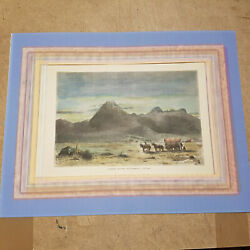 Hand Coloured Wood Engraving Of Lassens Butte Sacramento 1872 United States