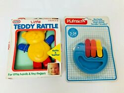 Vintage Baby Childs Rattles Teddy And Bird Rattle Brand New Playskool