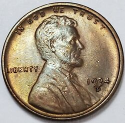 6 Choice Business Uncirculated++ Low Mintage 1934 D Lincoln Wheat Cent