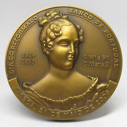 Maria Ii Queen Of Portugal/ Bank Of Portugal/ 2008 Retirement Day Bronze Medal